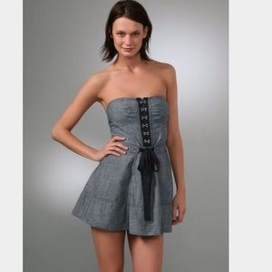 Juicy couture chambray strapless dress